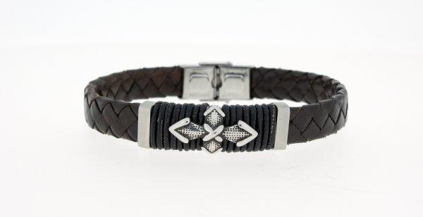 Clochard Fashion Herrenarmband schwarz mit Kreuz
