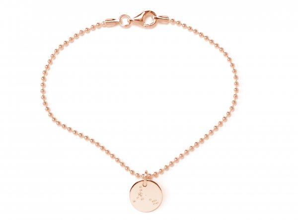 Soli Armband rosé 15mm mit Sternzeichen