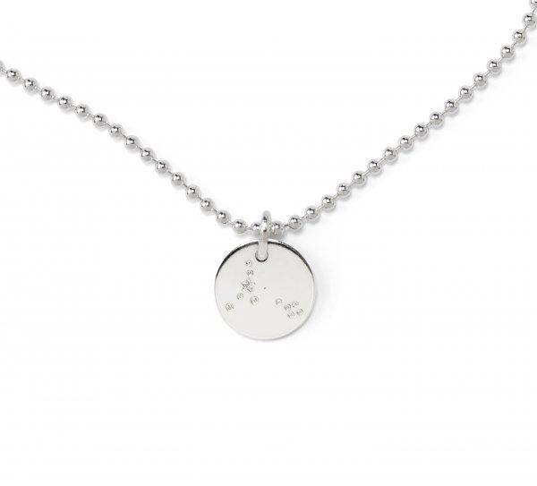 Sternzeichen Plättchenkette silber 90 cm