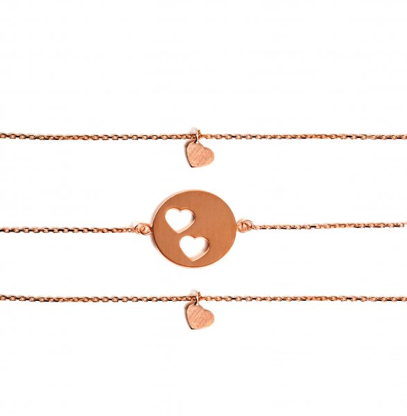 Carry Set Armband-Set 2 Rosé vergoldet