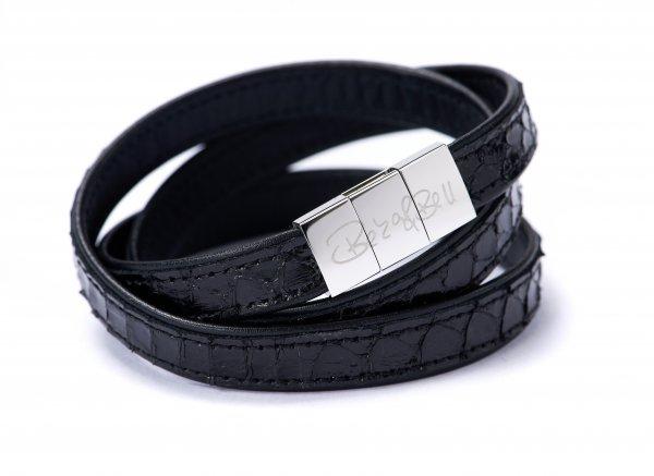 Crosby Exklusiv Armband schwarz
