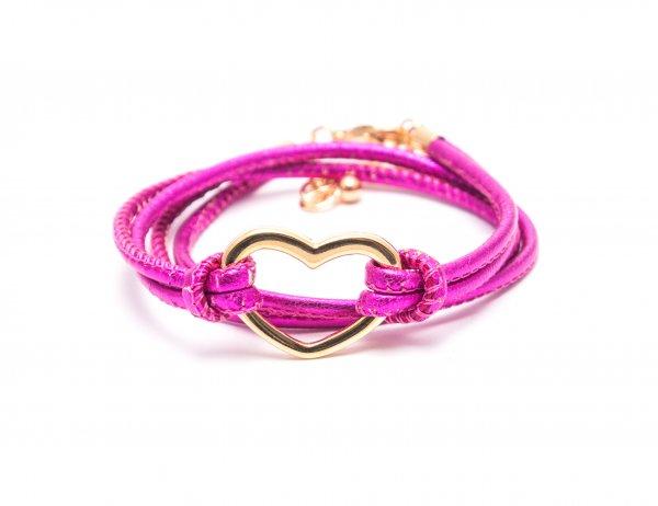 Heart Pink metallic, vergoldet