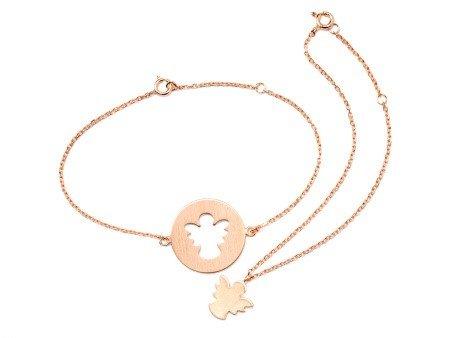 Carry Schutzengel Armband Set rosévergoldet