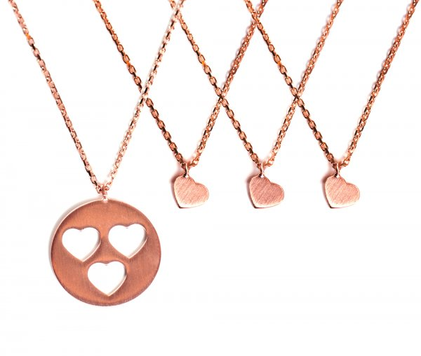 Carry Set Collier-Set 3 Rosé vergoldet
