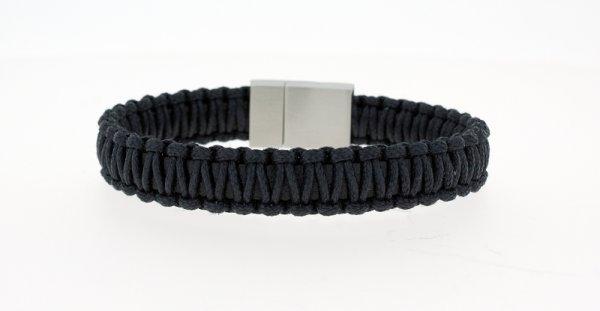 Clochard Fashion Herrenarmband schwarz geflochten-Copy