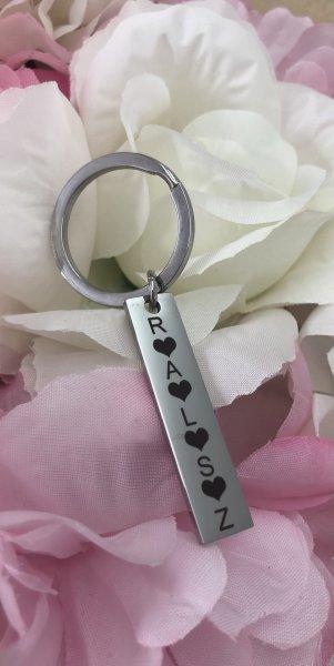 Schlüsselanhänger mit Rechteck für deine Gravur