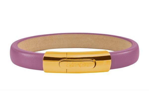 York Armband flieder, vergoldet