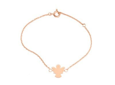 Carry Schutzengel Armband Set angelötet rosé vergoldet