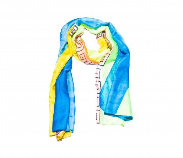 Schal blau / gelb / grün