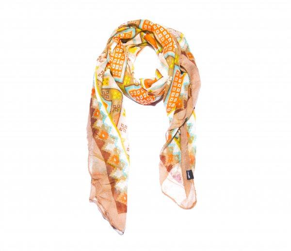 Schal orange / Muster
