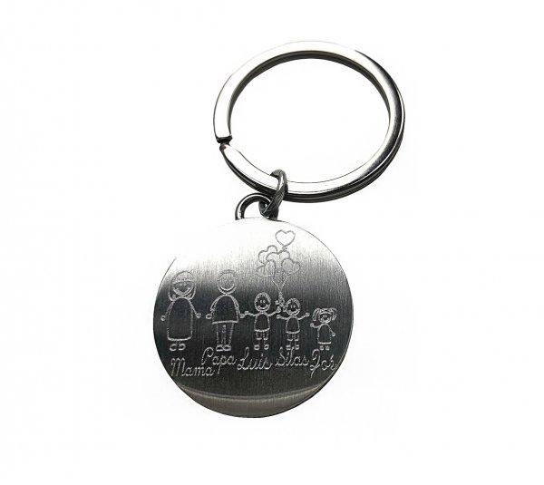 Schlüsselanhänger rund mit deiner Wunschgravur