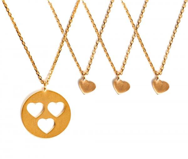 Carry Set Collier-Set 3 Gold vergoldet