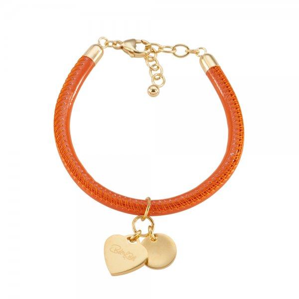 Cannock Armband orange, vergoldet