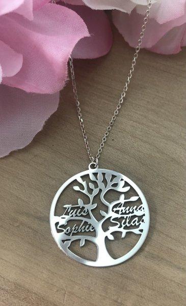 Lebensbaum mit Namen personalisiert
