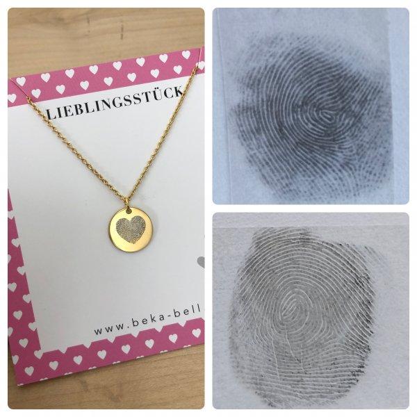 Heart Fingerprint Collier
