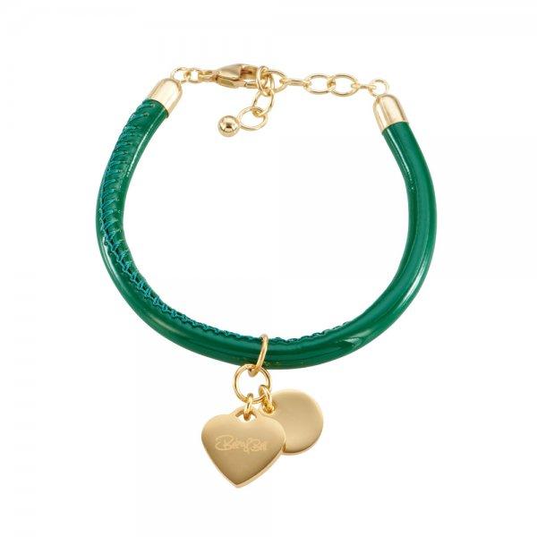 Cannock Armband grün, vergoldet