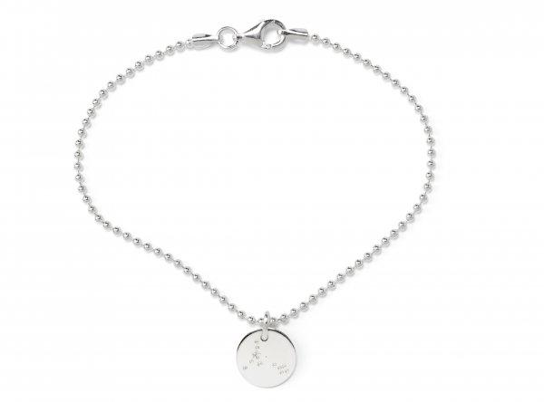 Soli Armband silber 10mm mit Sternzeichen