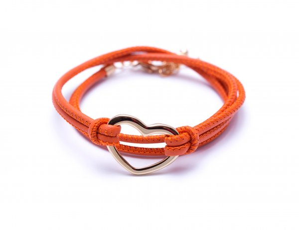 Heart Orange, vergoldet