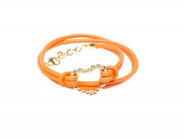 Heart Exklusiv orange, vergoldet