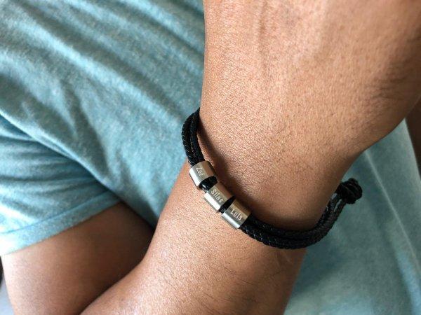 Armband für Herren mit gravierbaren Elementen