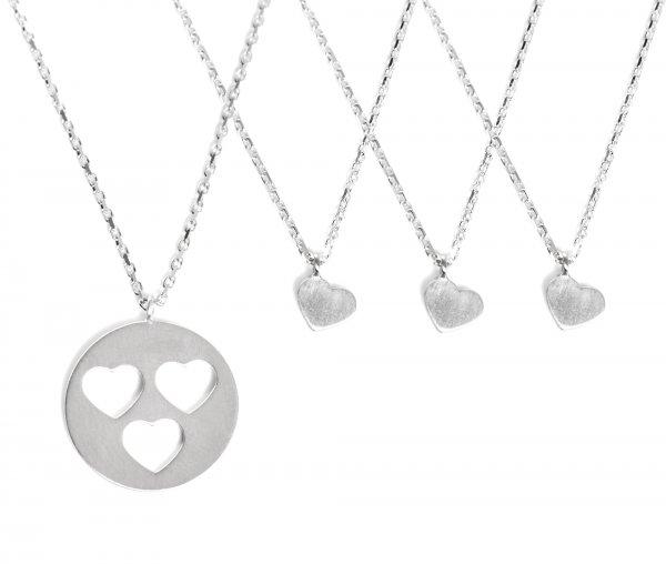 Carry Set Collier-Set 3 Silber