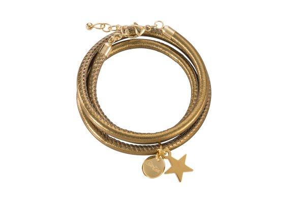 Hollywood Armband bronze, vergoldet