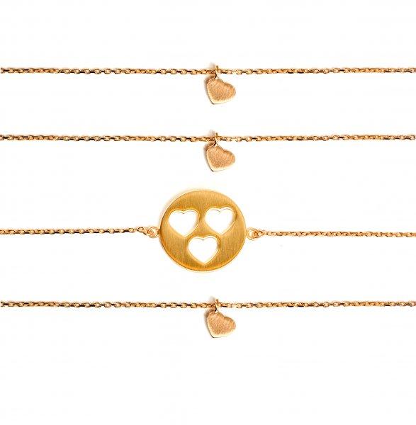 Carry Set Armband-Set 3 Gold vergoldet