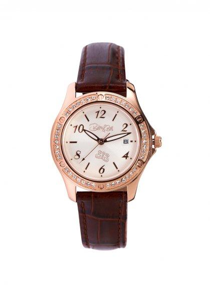 Linelli Armbanduhr rosé vergoldet/braun
