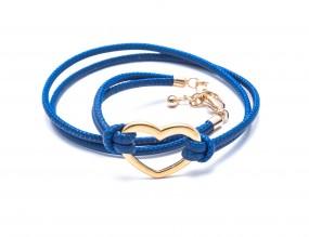 Heart Blau, vergoldet