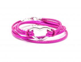 Heart Pink metallic