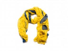 Marina Schal gelb/blau