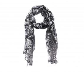 Schal schwarz /weiß